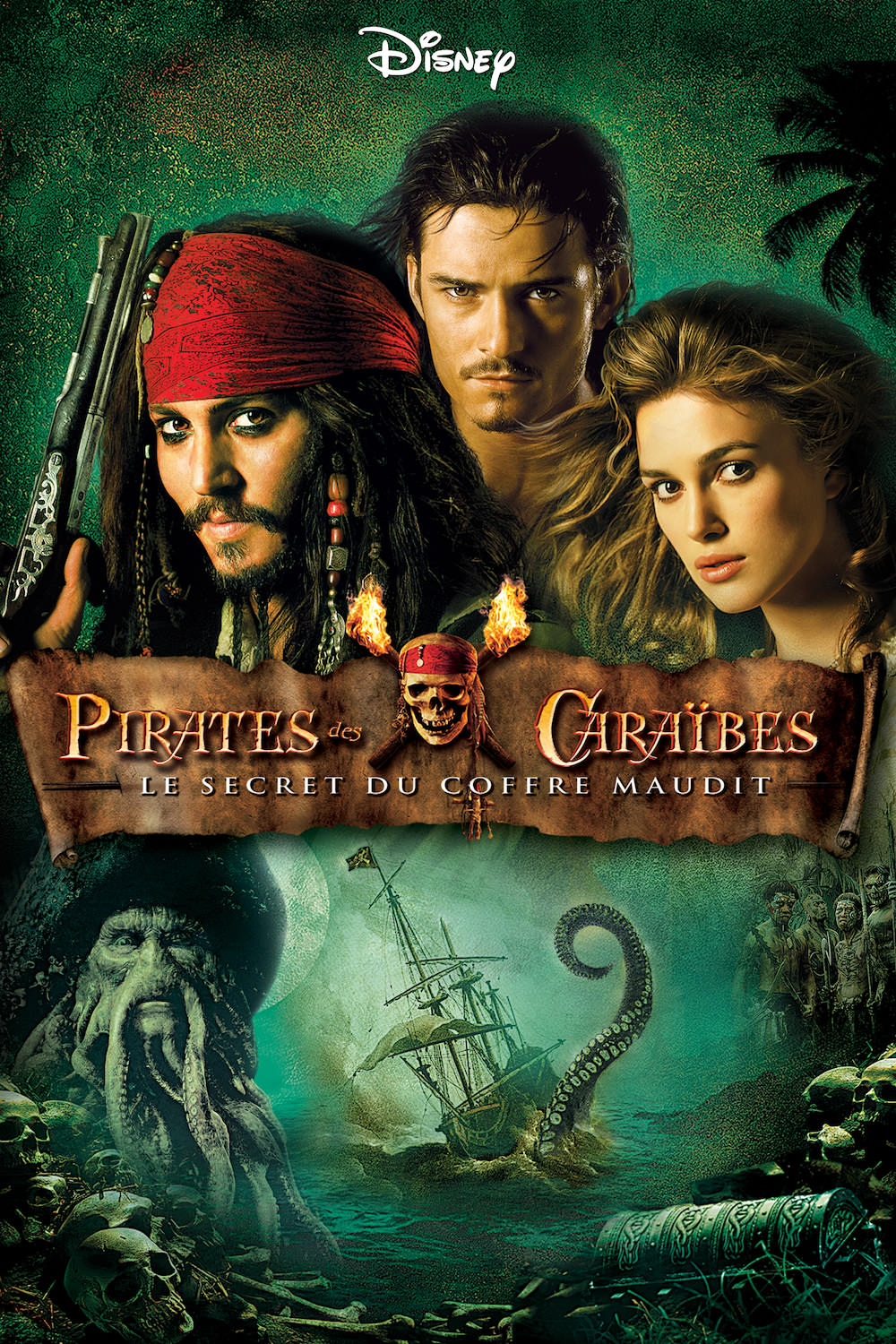 Affiche du film Pirates des Caraïbes  Le Secret du Coffre maudit