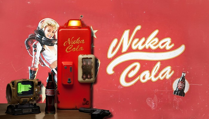 buy a mini fridge nuka cola officially licensed fallout 4 pause geek la culture geek au. Black Bedroom Furniture Sets. Home Design Ideas