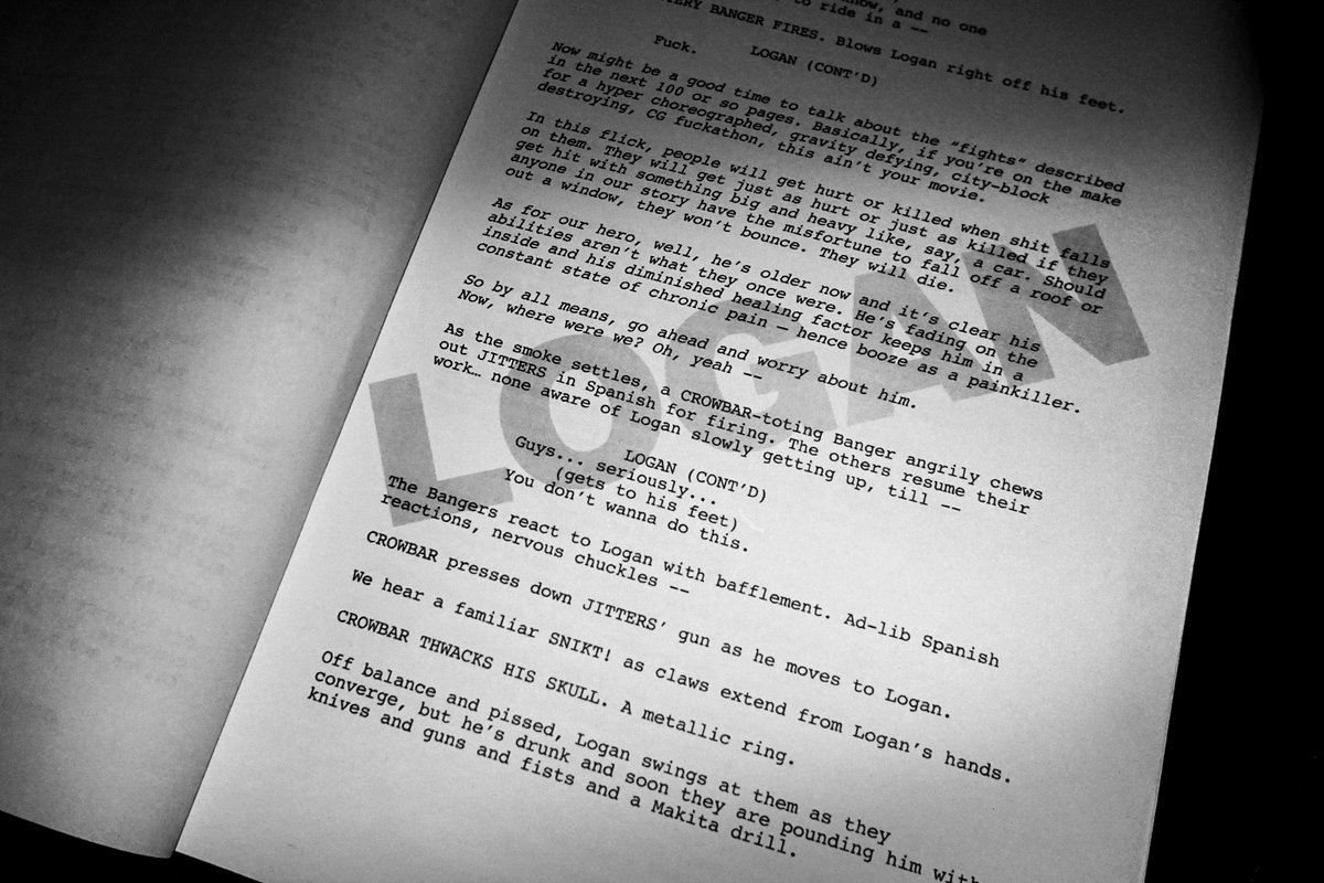 Screenplay du film Logan