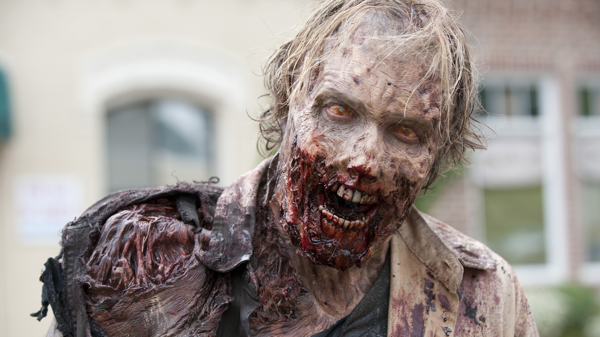 Image d'un zombie de la série culte The Walking Dead