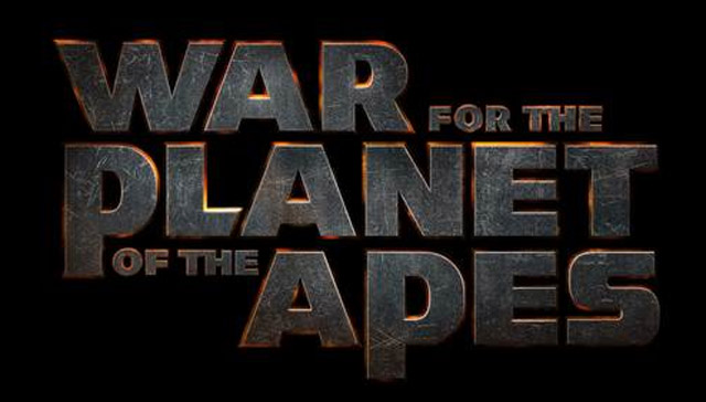 L'écran titre du film War of the Planet of the Apes