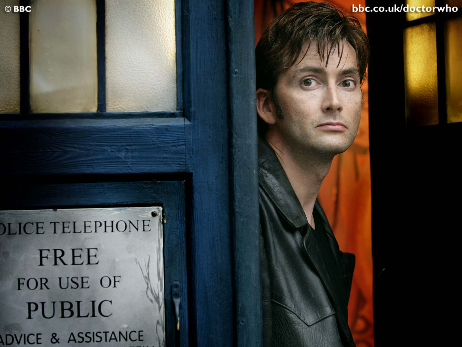David Tennant dans le TARDIS