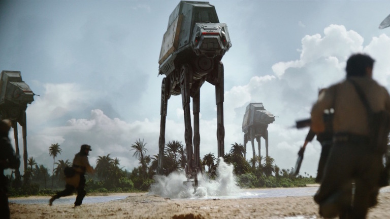 Un AT-ACT du film Rogue One : A Star Wars Story de Gareth Edwards