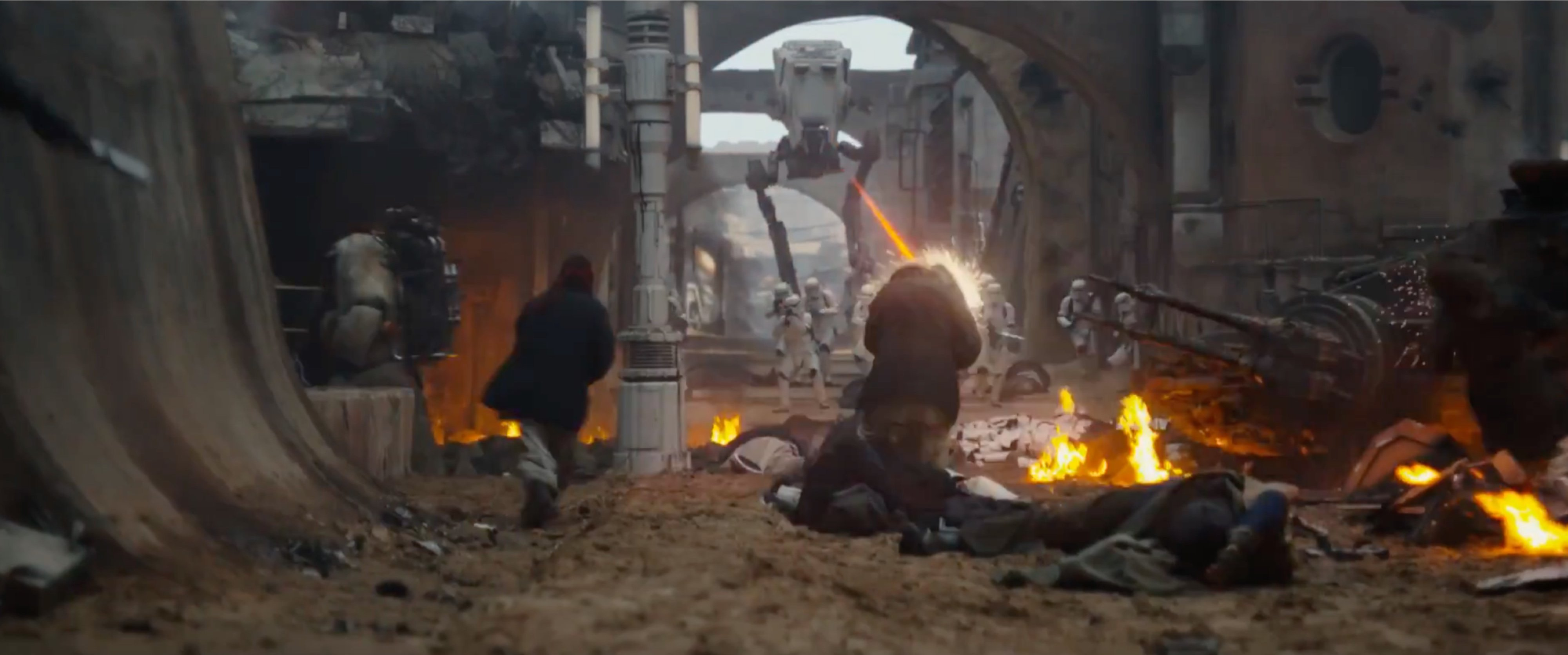 Image de la bataille de Jedha de Star Wars Rogue One