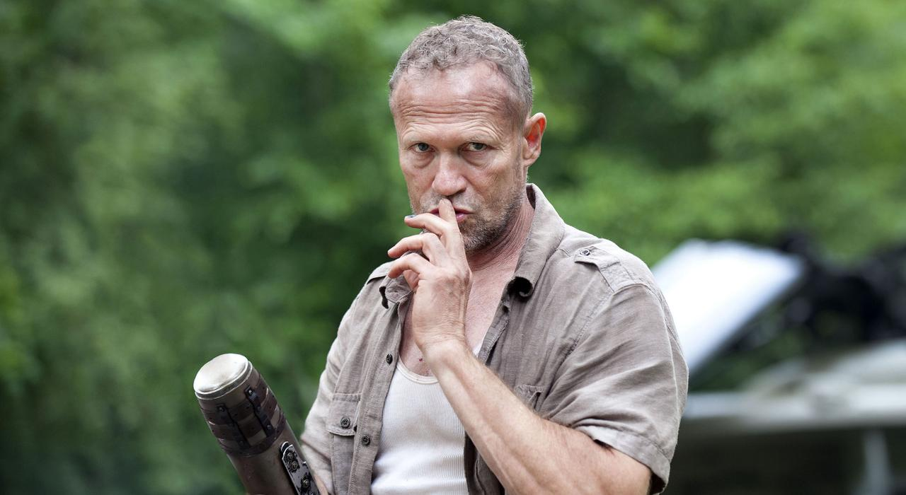 Merle Dixon (Michael Rooker) dans la série TV The Walking Dead de AMC