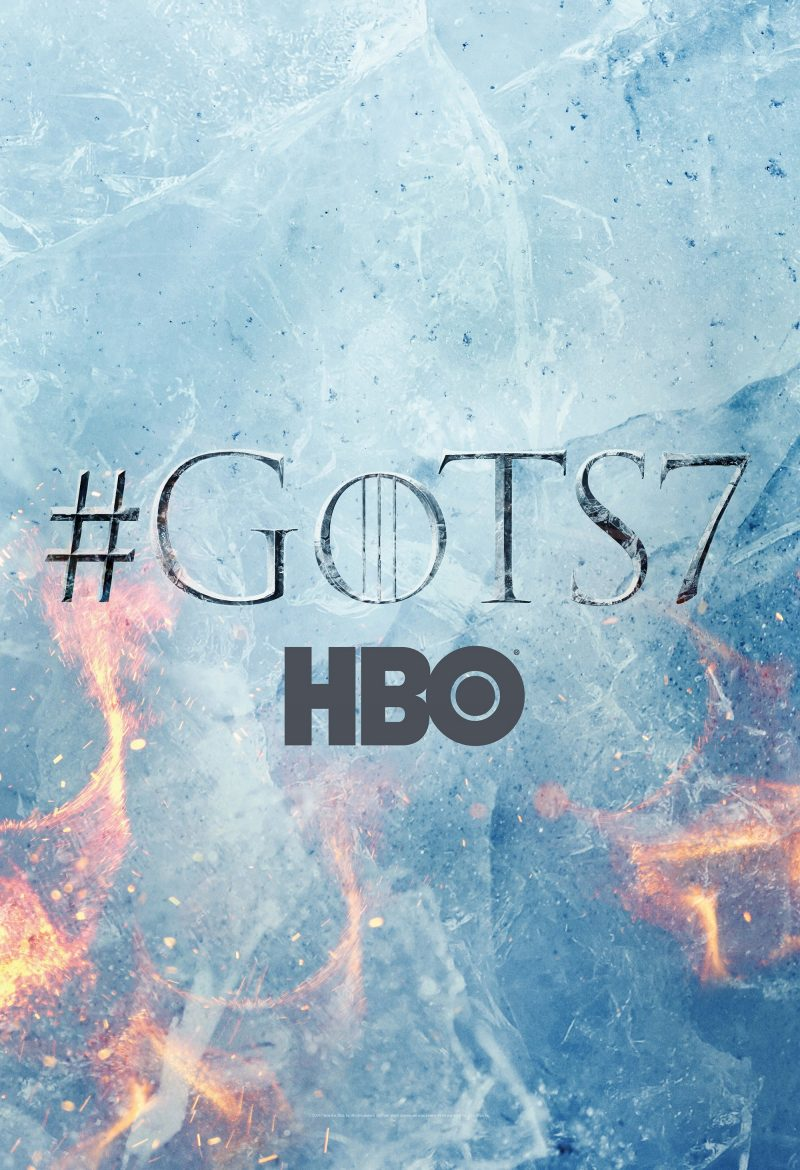 Affiche promotionnelle de la saison 7 de Game of Thrones