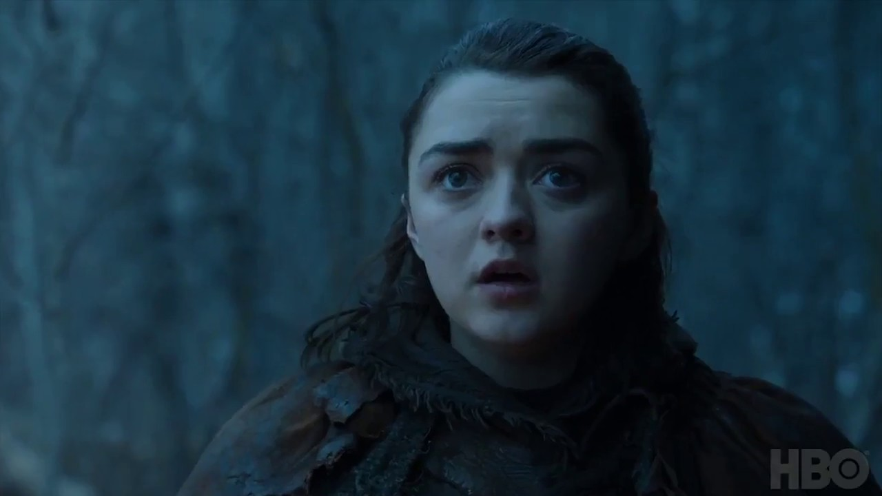 Image d'Aria Stark dans l'épisode 2 de la saison 7 de Game of Thrones