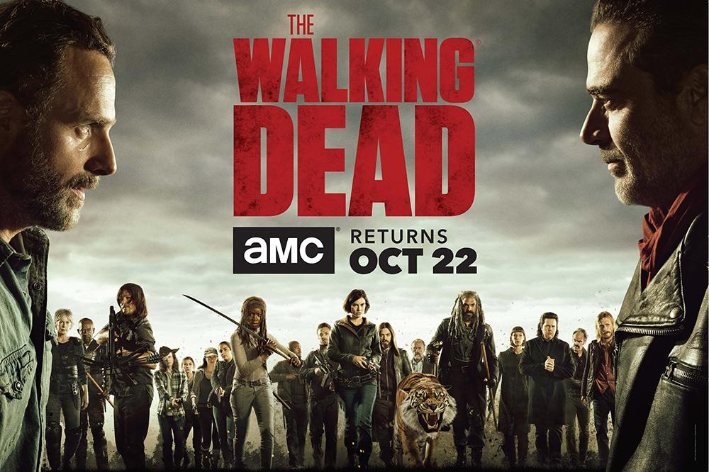 Affiche promotionnelle de la saison 8 de The Walking Dead