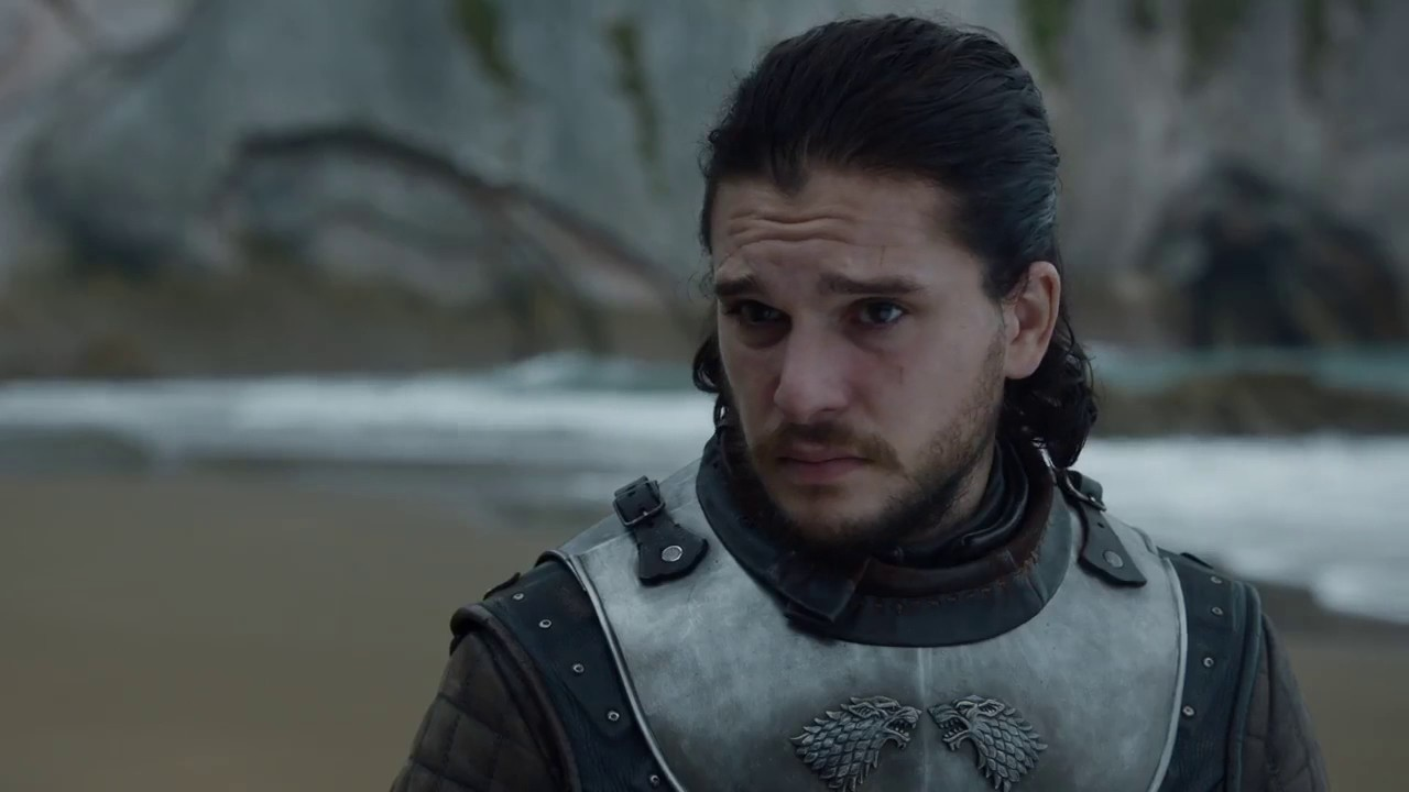 Image de Jon Snow dans l'épisode 4 de la saison 7 de Game of Thrones