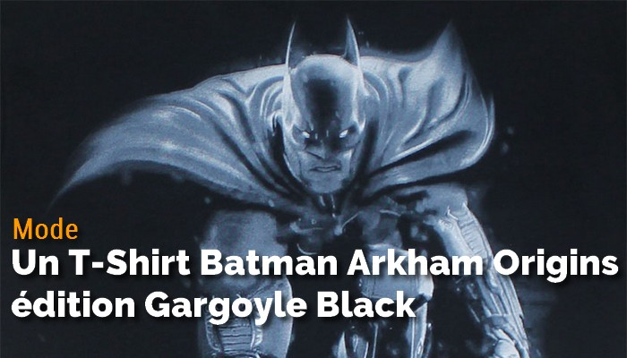 T-Shirt Batman Arkham Origins - Gargoyle Black