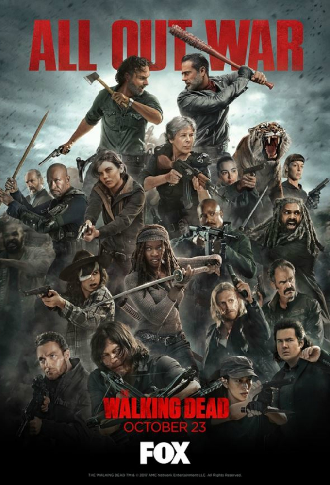 Affiche de la saison 8 de The Walking Dead