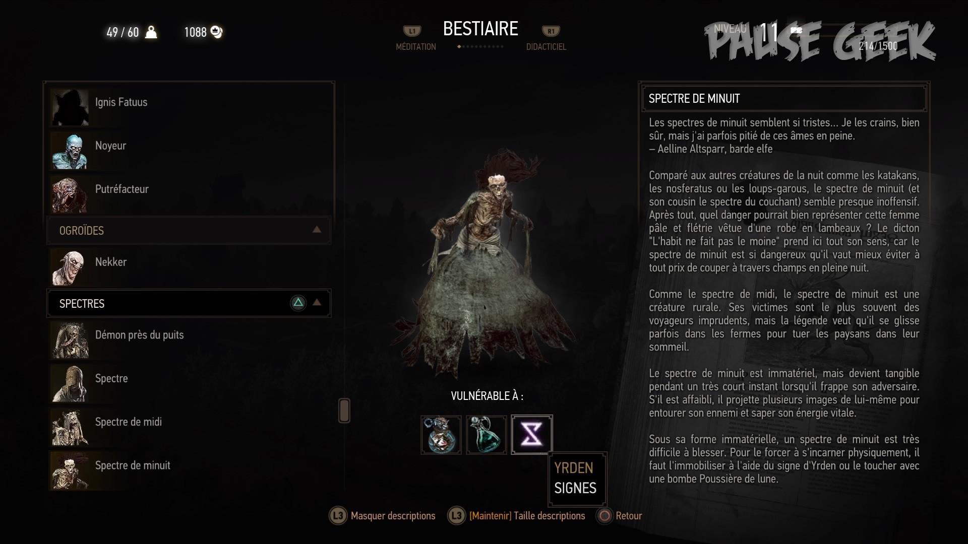 Image du bestiaire du jeu vidéo The Witcher 3 Wild Hunt de CD Projekt Red sur PS4