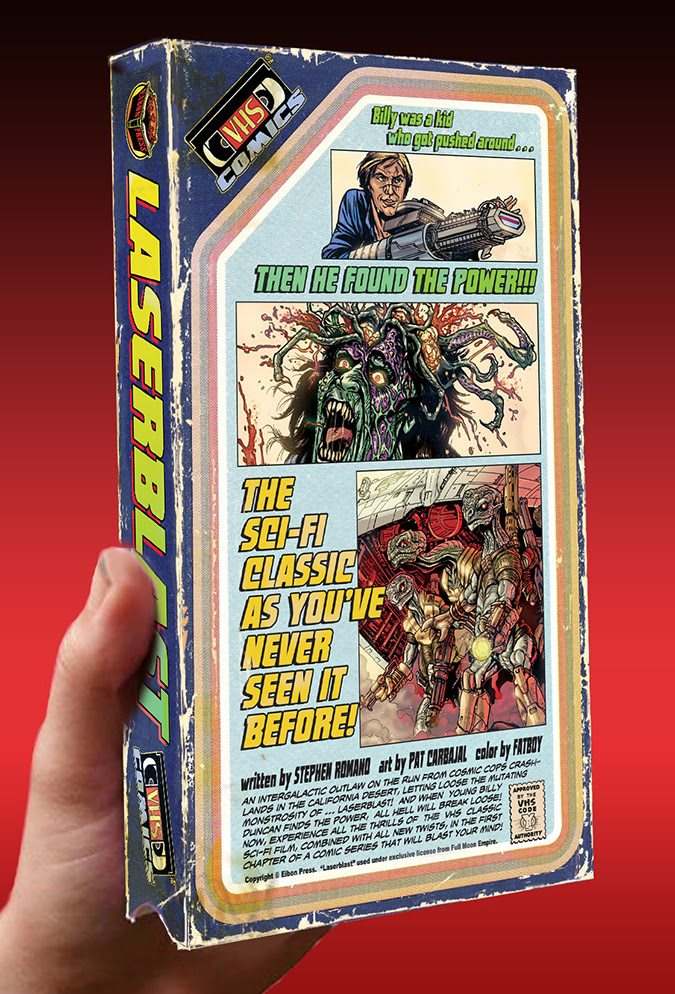 Image de la version VHS Comics du film Laserblast par l'éditeur Eibon Press