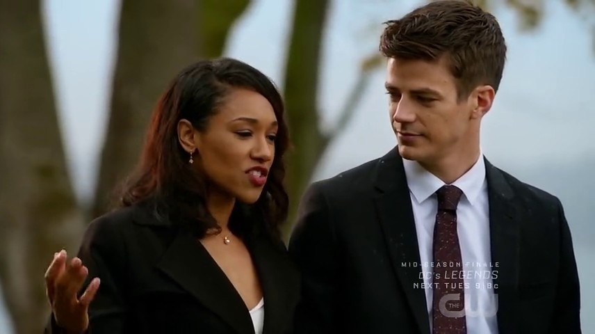 Image de Barry Allen et Iris West dans l'épisode 8 de la saison 3 de Legends of Tomorrow