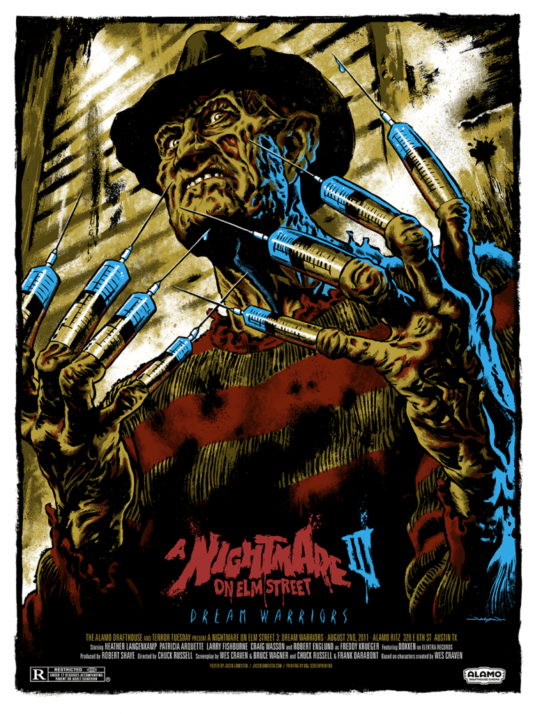 Fan art de Jason Edmiston représentant Freddy Krueger