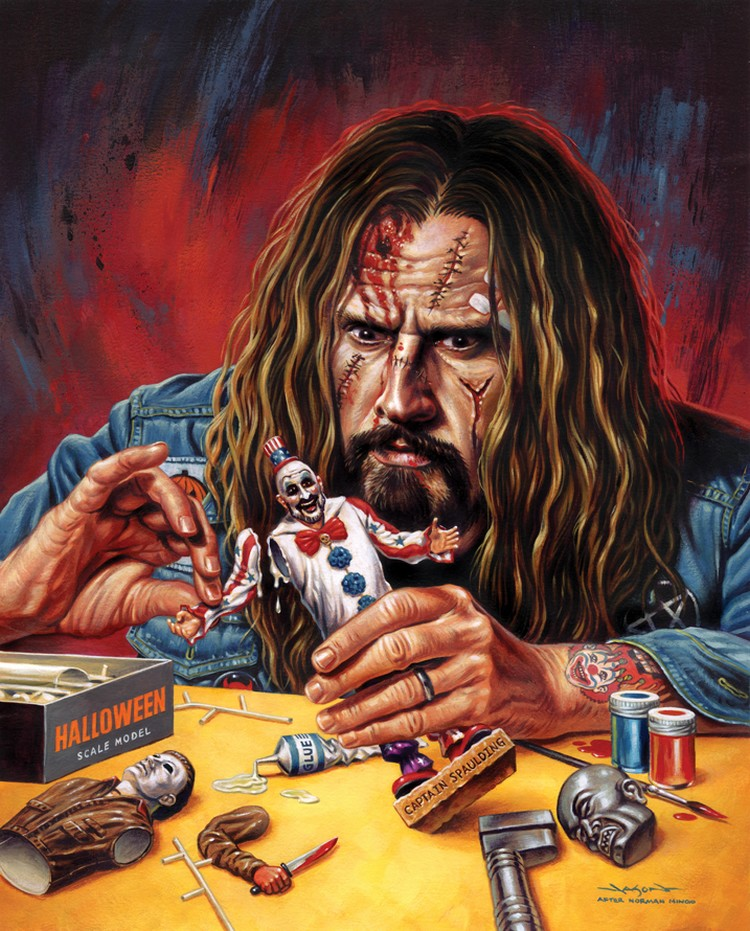 Fan art de Jason Edmiston représentant Rob Zombie