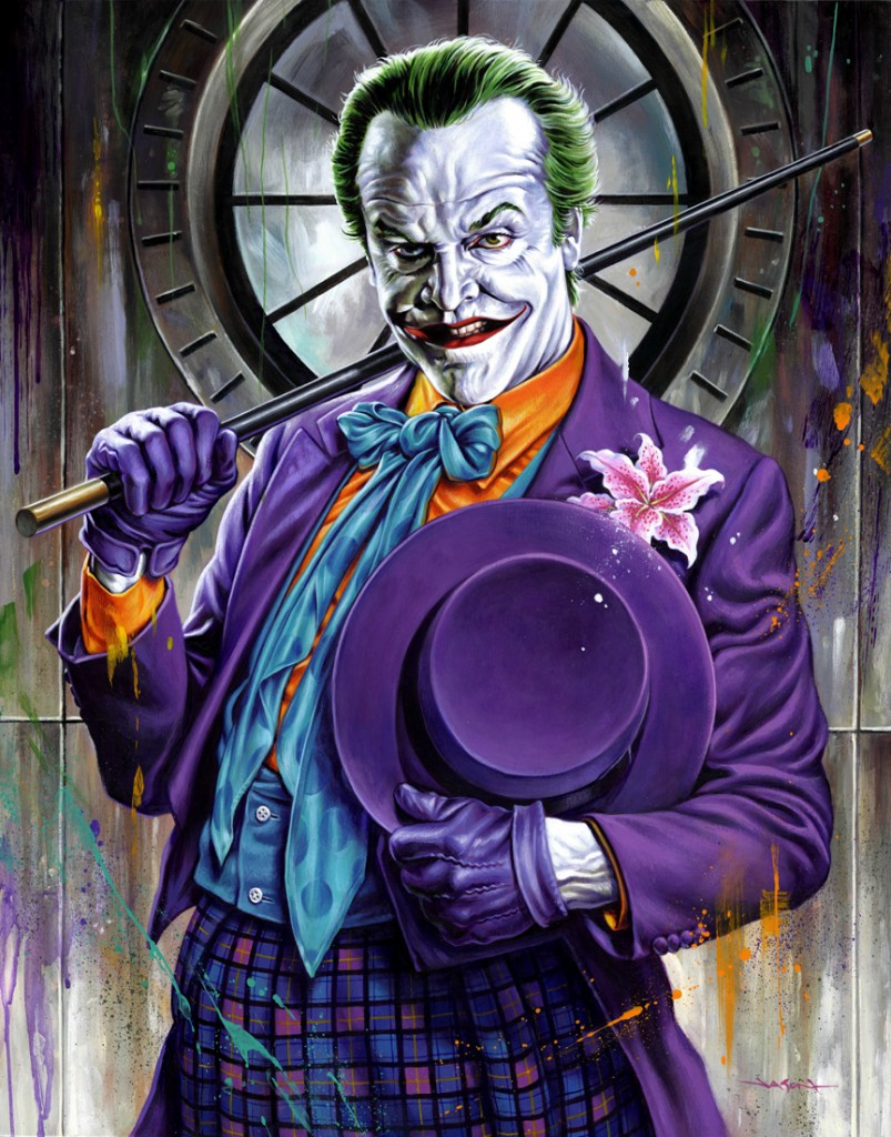 Fan art de Jason Edmiston représentant le Joker de Jack Nicholson du film Batman de Tim Burton