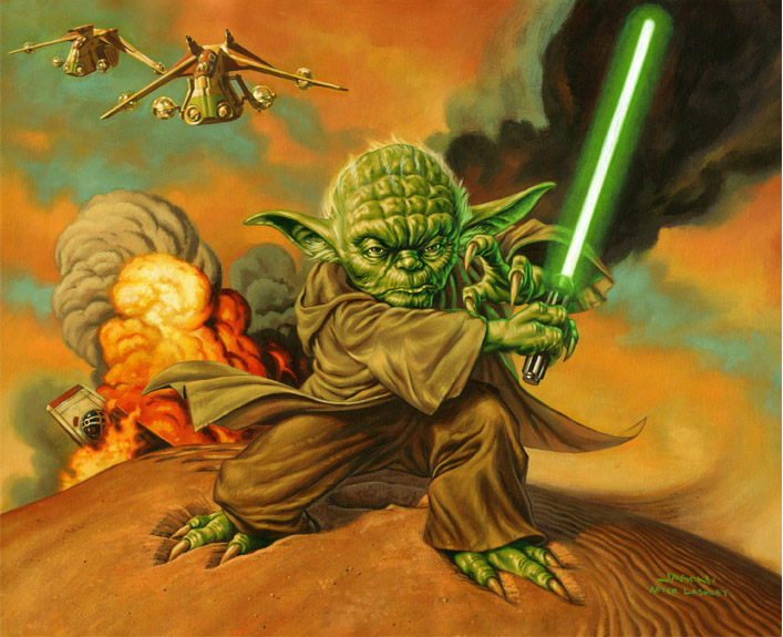 Fan art de Jason Edmiston représentant Yoda