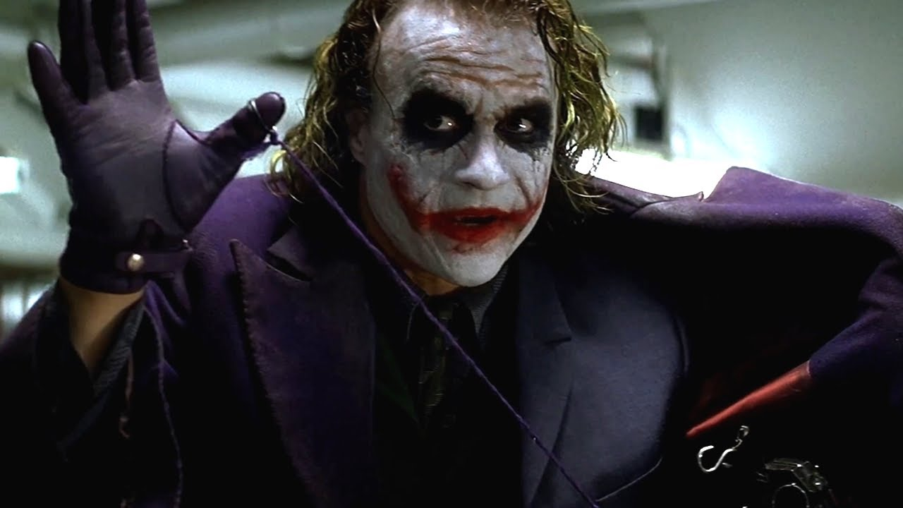 Image du Joker dans le film Batman The Dark Knight de Christopher Nolan