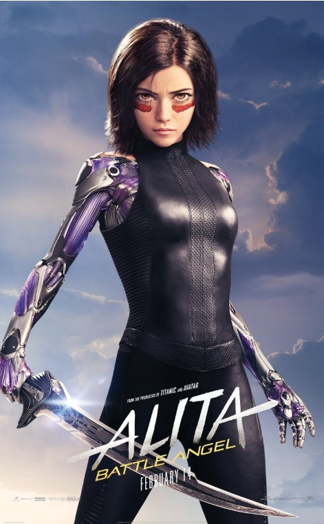 Affiche du film Alita : Battle Angel de Robert Rodriguez