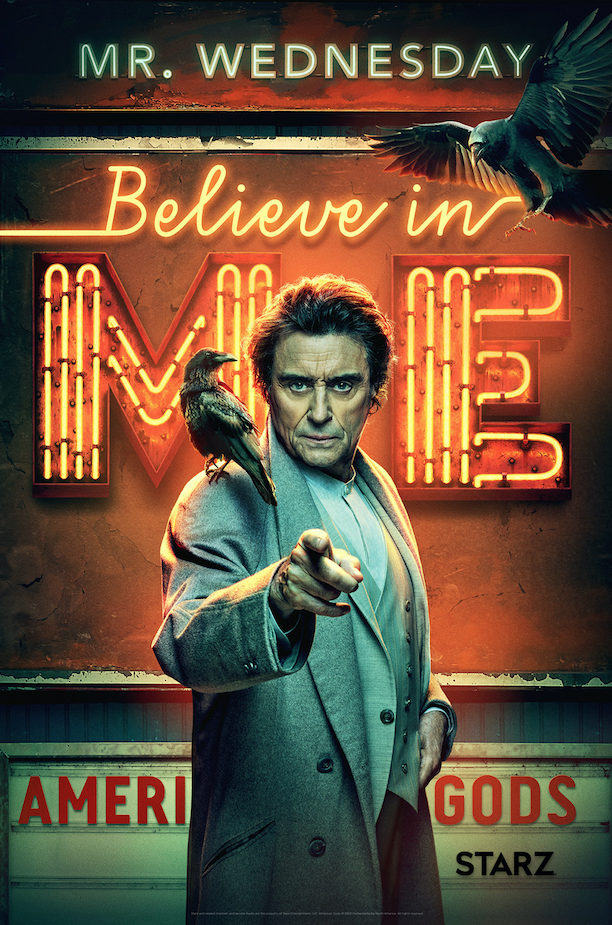 Image de Mr Wednesday dans la saison 2 d'American Gods