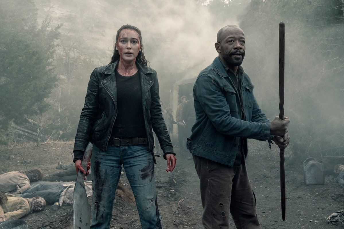 Image d'Alicia et Morgan dans la saison 5 de Fear The Walking Dead