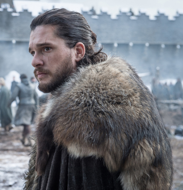 Image de Jon Snow dans la saison 8 de Game of Thrones