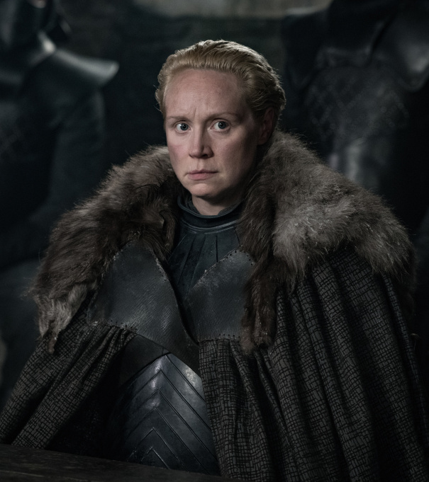 Image de Brienne de Tarth dans la saison 8 de Game of Thrones