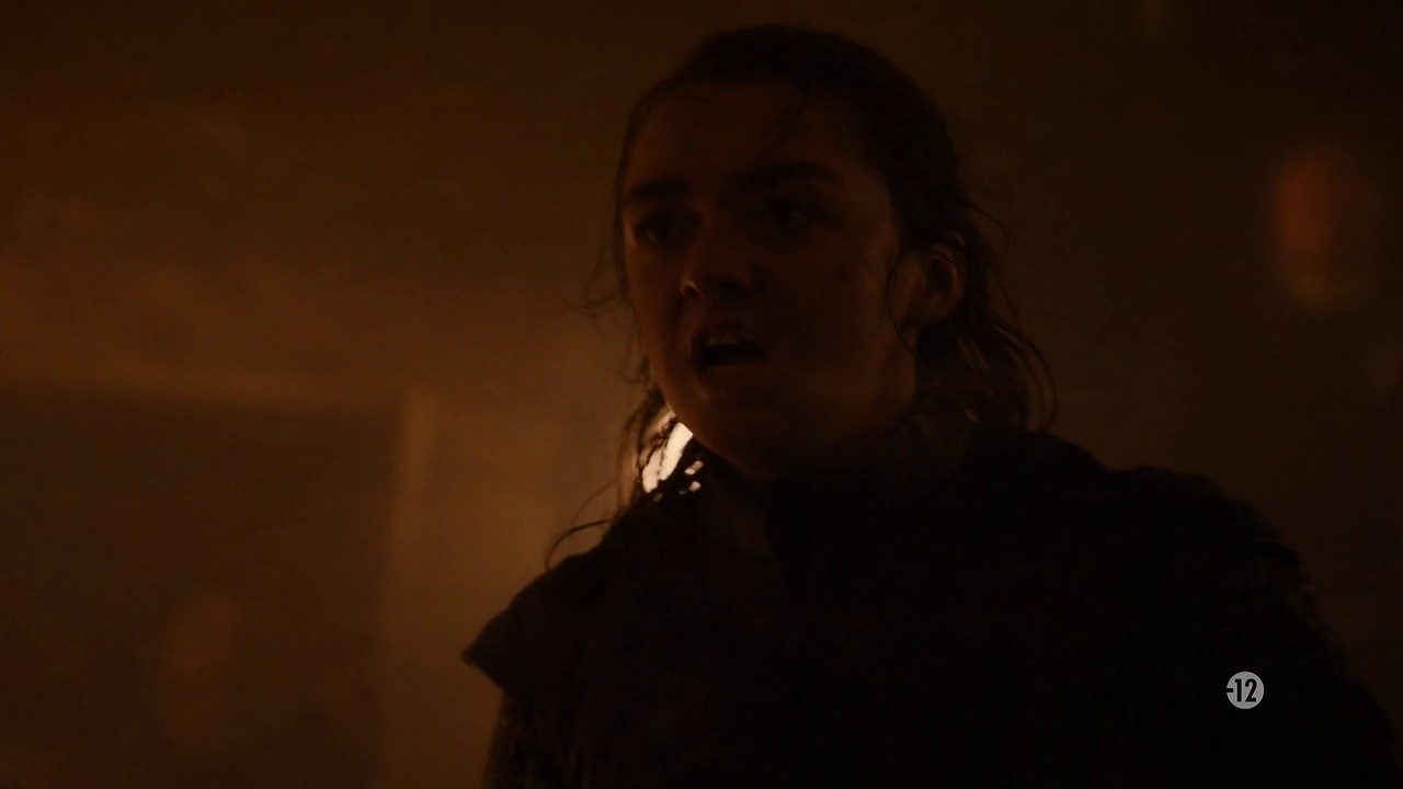 Image d'Arya Stark dans l'épisode 3 de la saison 8 de Game of Thrones