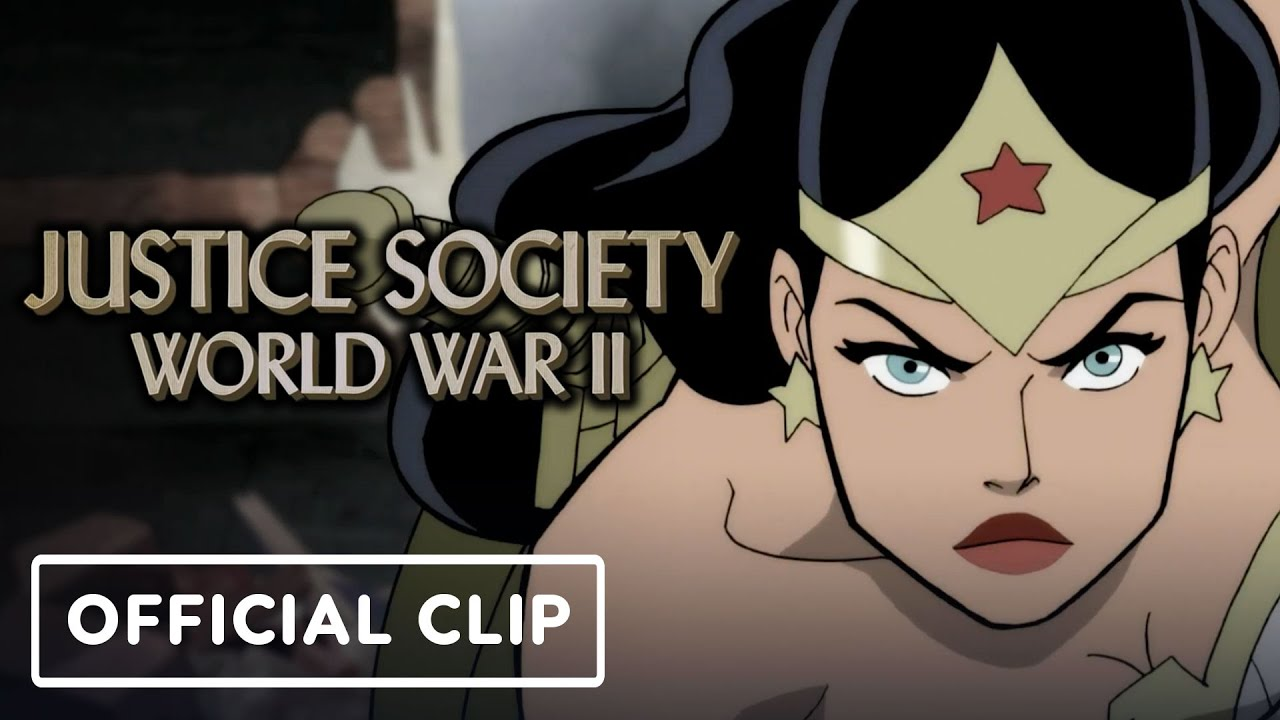 Justice Society: World War II - Official Exclusive Wonder Woman vs Nazis Clip