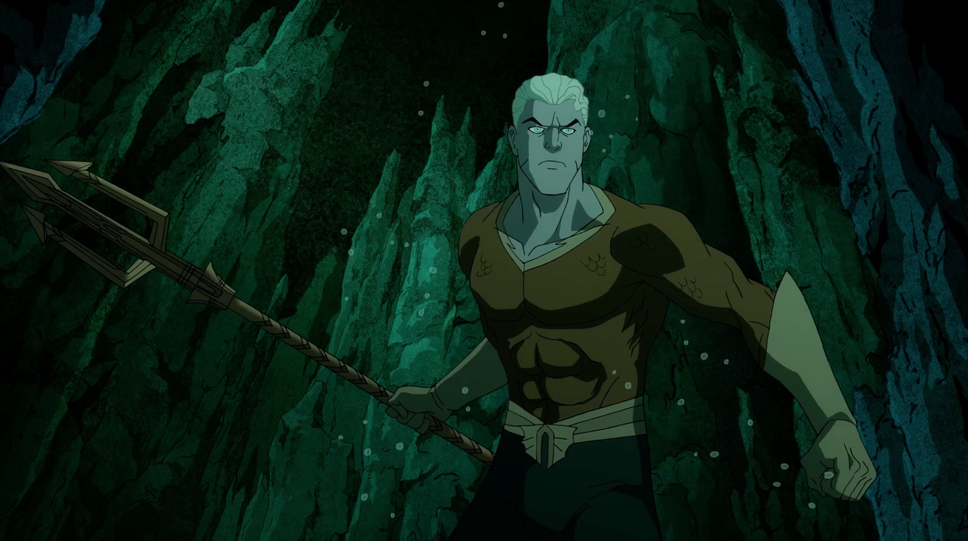 Image d'Aquaman dans le film d'animation Justice Society : World War II