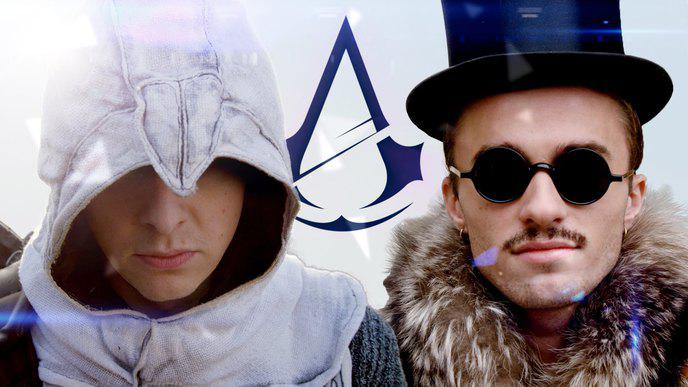 Norman et Squeezie parodie Assassin de la Police en mode Assassin's Creed