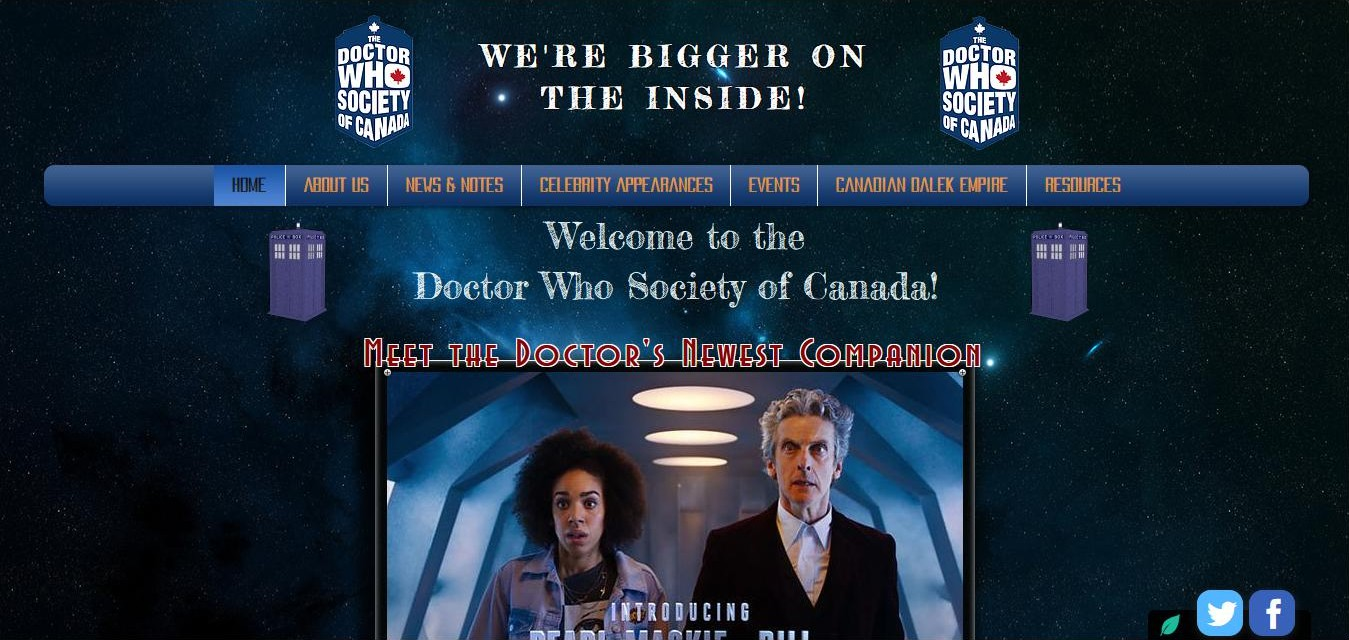 Doctor Who Society of Canada : plus qu'une association, une véritable famille