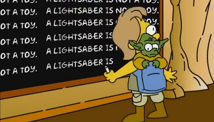 L'intro des Simpsons en version Star Wars