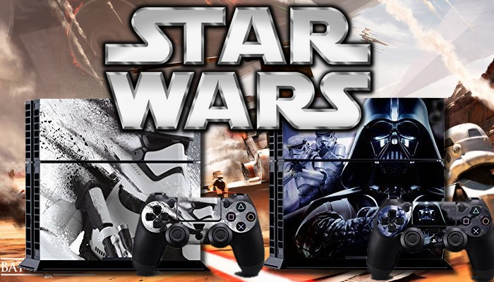 Collection de stickers star wars pour ps4 pause geek for Autocollant mural star wars