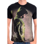 T-Shirt Arrow Noir Green Arrow de Profil