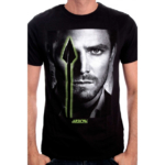 T-Shirt Arrow Noir Green Arrow Portrait Oliver Queen