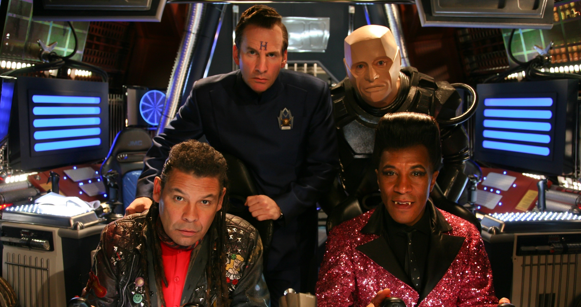 Red Dwarf Lister And Cat Flipping The Bird Gif