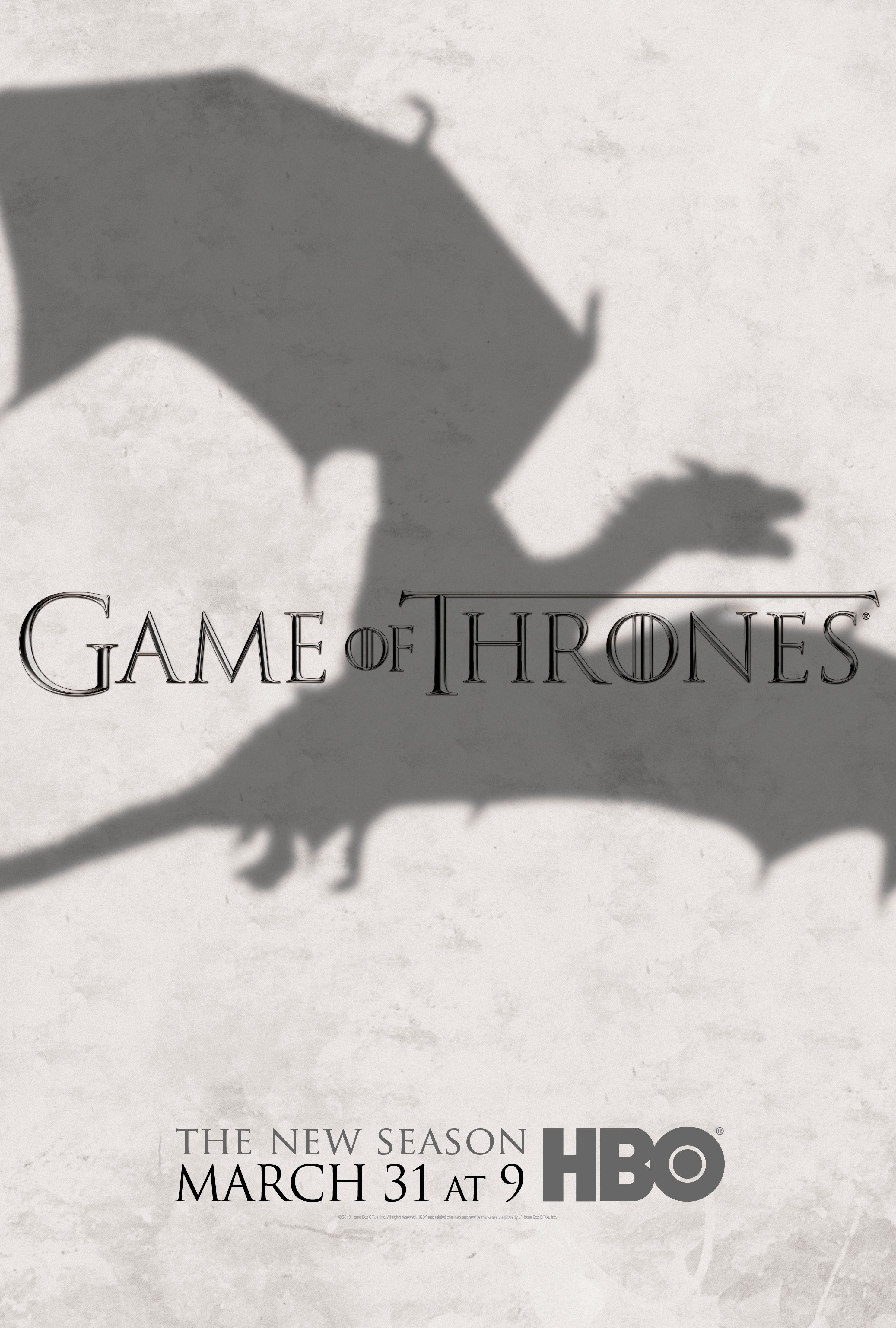 Affiche de la saison 3 de Game of Thrones
